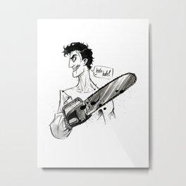 Inktober: Ash Metal Print