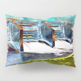 Flood Gates of Binary River Pillow Sham