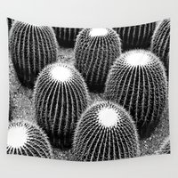 cacti Wall Tapestries featuring Cacti  by Ethna Gillespie