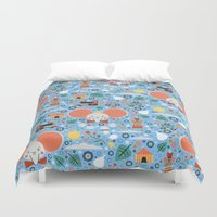 dumbo Duvet Covers featuring Dumbo by Carly Watts