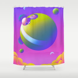King Kai's Planet Shower Curtain