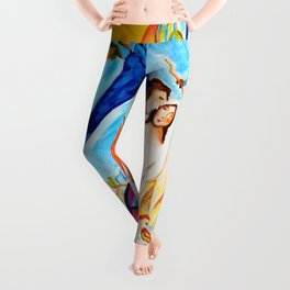 The Couple of the Eiffel Tower  Leggings