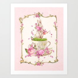 Bunny Tea Party Art Print