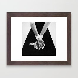 My kidnapper gives a really good backrub Framed Art Print