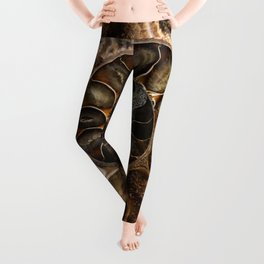 Earth treasures - Fossil in brown tones Leggings