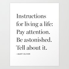 Mary Oliver Art Print