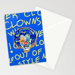 CLOWNS NEVER GO OUT OF STYLE Stationery Cards
