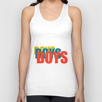 boys Tank Tops featuring Boys Boys Boys by Pop Invasion