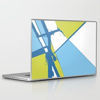 the wire Laptop & iPad Skins featuring High Wire by Ryan Johnson