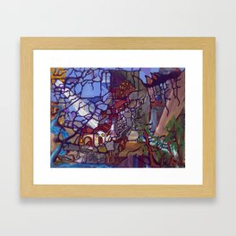 Mountain Village Framed Art Print