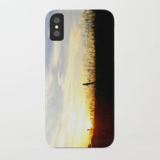 Sunset Behind the Fence iPhone X Slim Case