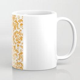 Elegant Damask Pattern (orange) Coffee Mug
