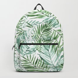 Watercolor palm leaves pattern Backpack