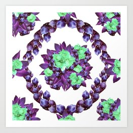 Purple Cactus Buds Art Print