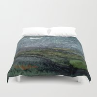starry night Duvet Covers featuring Starry Night by Linda Ginn Art ©