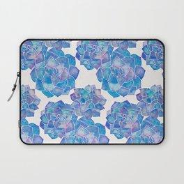 Rosette Succulents – Blue Palette Laptop Sleeve