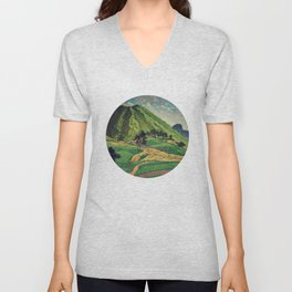 Crossing people's land in Iksey Unisex V-Neck