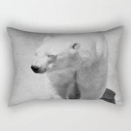 Polar Bear Photography | Black and White | Mammal | Nature | Wildlife | Animal Rectangular Pillow