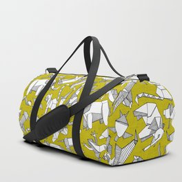 origami animal ditsy chartreuse Duffle Bag