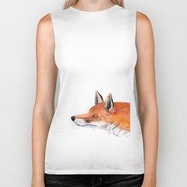 Red fox portrait Biker Tank