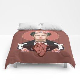 Frida Kahlo (Dark) Comforters