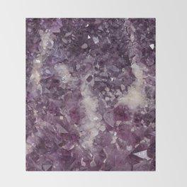 Deep Purple Quartz Crystal Throw Blanket