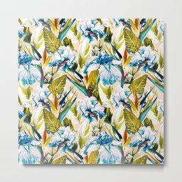 Floral Exotic Pattern II Metal Print