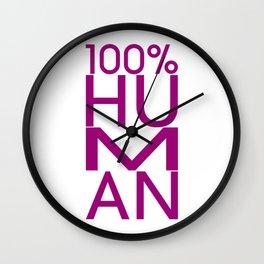 100% HUMAN Wall Clock