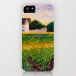 Landscape of the Ile de France Post-Impressionism landscape Oil Painting Countryside Cottages Farm iPhone Case