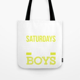 Saturdays Are Fore The Boys Funny Golf Tote Bag