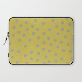 Simply Dots Retro Gray on Mod Yellow Laptop Sleeve
