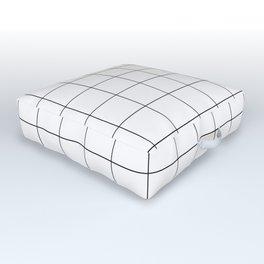 White Grid  /// pencilmeinstationery.com Outdoor Floor Cushion