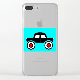 Black Car Two Directions Clear iPhone Case