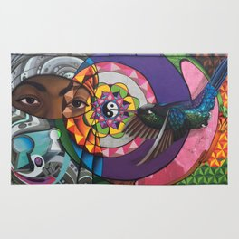 """""""A sweeter melody"""" The fifth chakra Rug"""
