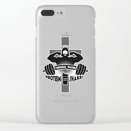 Arnold Schwarzenjesus Clear iPhone Case