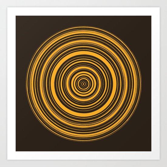 Orbis (On Brown) Art Print