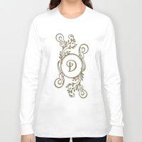 monogram Long Sleeve T-shirts featuring Monogram D by Britta Glodde