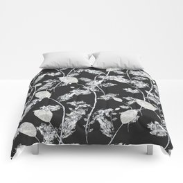 white leaf pattern Comforters