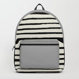 Storm Grey x Stripes Backpack