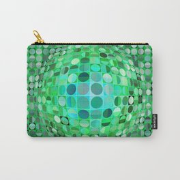 Optical Illusion Sphere - Green Carry-All Pouch