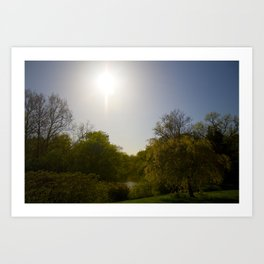 Sunny Day at the Estate Art Print