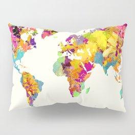 world map color art Pillow Sham