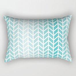 Ombre Aqua Geometric Pattern Rectangular Pillow