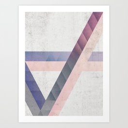 Unespected Geometry Art Print