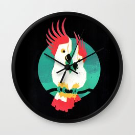 Two Cockatoos in Love Wall Clock