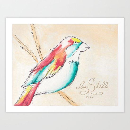 """Be Still"" Watercolor  Art Print"