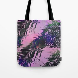 Glitchy Palm Tote Bag