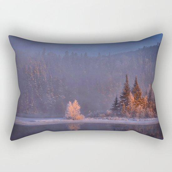 Canadian winter landscape Rectangular Pillow