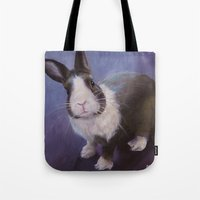 furry Tote Bags featuring Furry Friend by Ashley Vanchu
