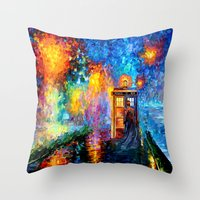 fandom Throw Pillows featuring The 10th Doctor who Starry the night Art painting iPhone 4 4s 5 5c 6, pillow case, mugs and tshirt by Three Second